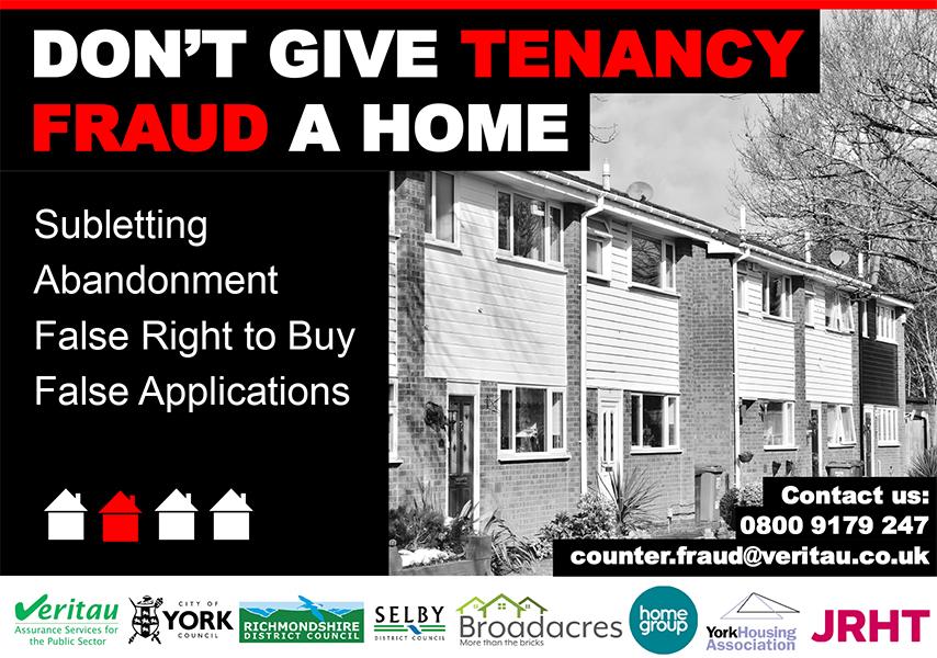 Tenancy Fraud Awareness Week poster Veritau