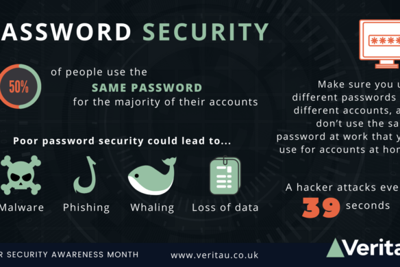 Password security wide infographic Veritau