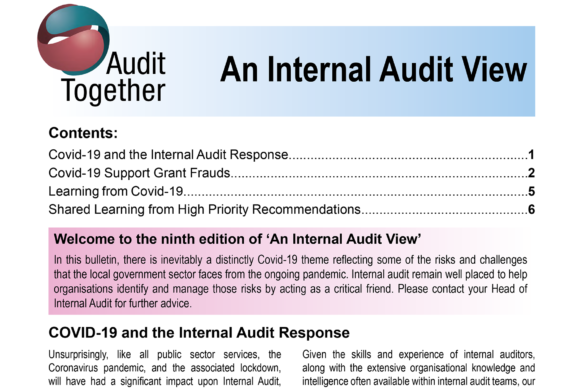Clipping of An Internal Audit View edition 9 - Veritau