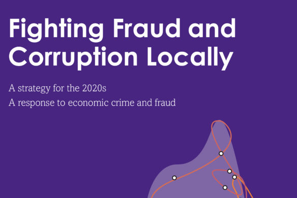 Fighting Fraud and Corruption Locally Strategy - front cover - Veritau
