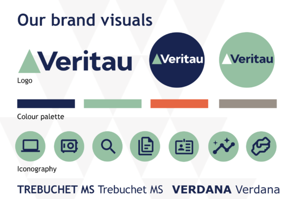 Brand visuals feature - Veritau rebrand new website